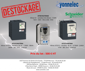 Destockage - Yonnelec Sens 89